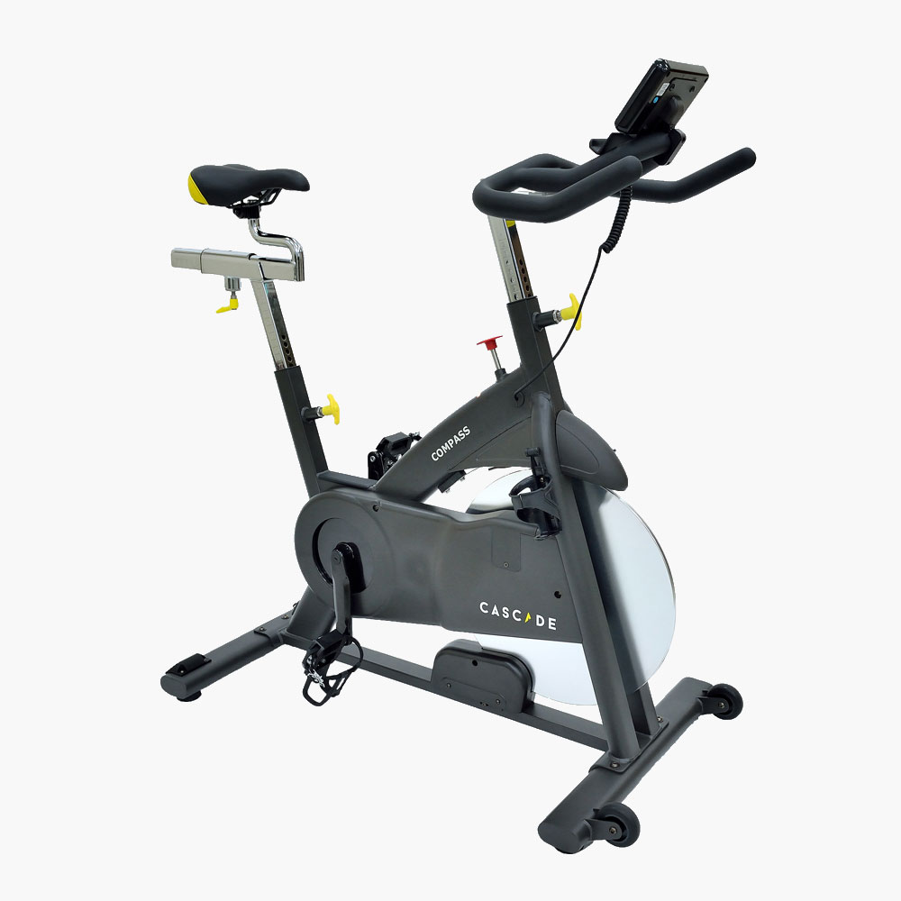 Cascade Compass Group Exercise Bike - Angled front right