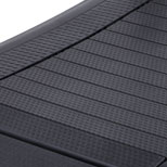 Aluminum core anti-slip rubber slats | Cascade Ultra Runner Treadmill